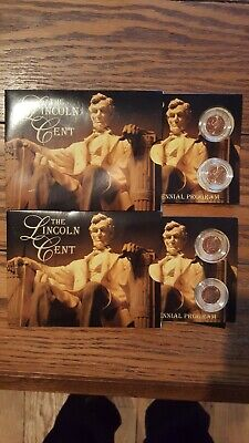 Complete Set Lincoln Bicentennial 2009 Cent Penny P & D - 4 Coins