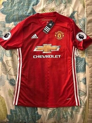 e9b390f5f Authentic Adidas Manchester United Adizero Home Player Issue 16 17 EPL  Jersey M