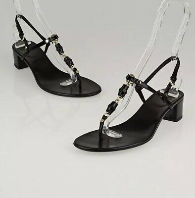 3fd8abfe668c 💰SALE!  895 GUCCI Mallory CRYSTAL SUEDE THONG FLAT SANDALS 38.5 8.5 ...
