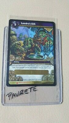 WOW World of Warcraft TCG Unscratched Loot Card Landro's Gift