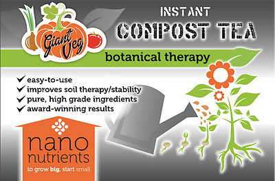 Instant Compost Tea with added Nano FE3O4 - 75 Grams - Giant Veg and Hydroponics