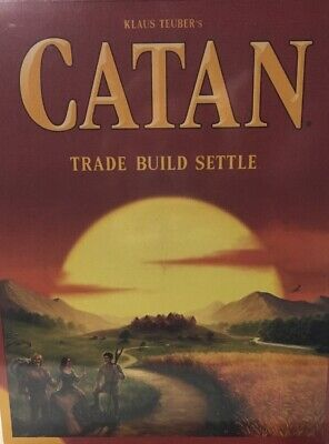 Klaus Teuber's Catan Board Game 5th Edition - Trade Build Settle *Free Shipping*