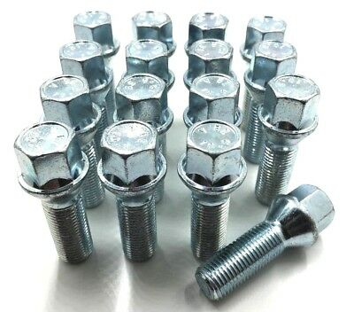 16 x ALLOY WHEEL BOLTS EXTENDED , AUDI A3 A4 A7 A8 TT, M14 X 1.5,35MM 17MM,  (9)