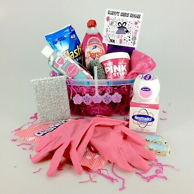 Mrs Hinch New Home Gift Basket Set Pink Stuff Cleaning Flash Cif Disinfectant