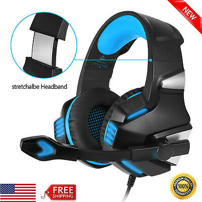 Gaming Headset Stereo Bass Surround Headphone w/ Mic for PS4 Xbox One PC Laptop