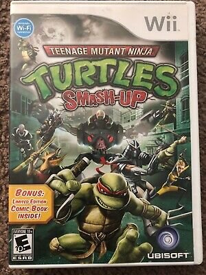 Teenage Mutant Ninja Turtles Smash Up Nintendo Wii Game Complete Trusted Seller