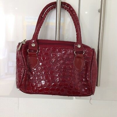 Girls Red Patent Handbag