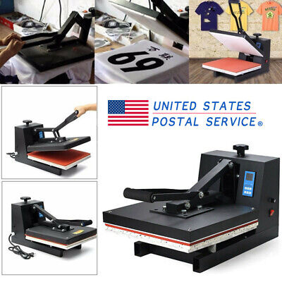 "TEFLON 15X15"" CLAMSHELL HEAT PRESS T-SHIRT Digital TRANSFER SUBLIMATION MACHINE"
