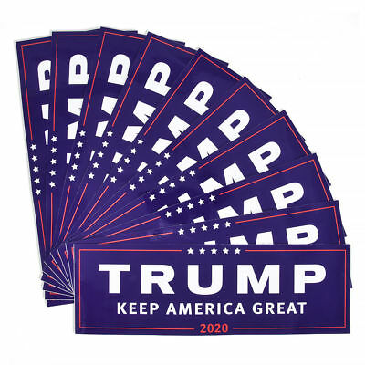 10PCS Donald Trump For President 2020 Bumper Sticker Keep Make America Great EN