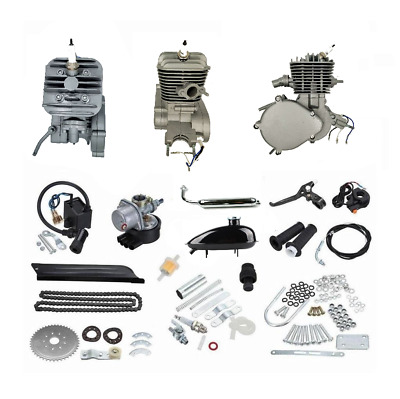 ZoomBicycles Jet 66cc/80cc 2-Stroke Bicycle Engine Kit Bundle (Silver)