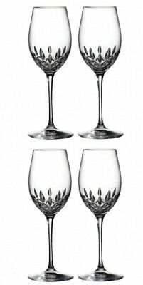 Waterford Crystal Lismore Essence White Wine Pair (2 Pairs) 4 Glasses #143782