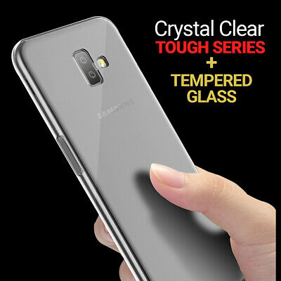 CLEAR Case For Samsung Galaxy J6 Plus Cover Shockproof Silicone Gel Protective