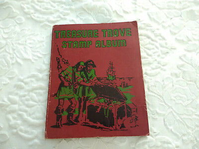 Vintage Treasure Trove English Stamp Album With 500+ Worldwide Stamps