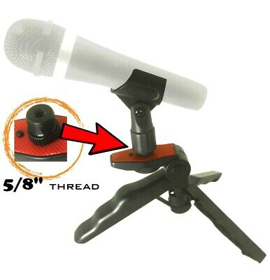 Adjustable Desktop Table Mic Microphone Clamp Clip Holder Stand Foldable Tripod