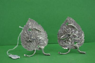 2 Antique Chinese Export Silver Leaf  Shibayama  Menu Holders Luen Wo Shanghai