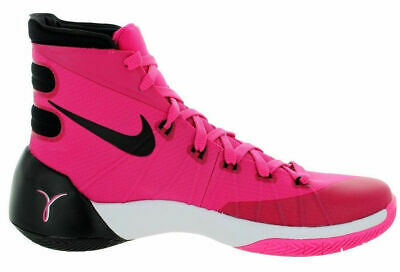 100% authentic 7dd51 a17f2 Nike Hyperdunk 2015 BREAST CANCER QS Kay Yow Vivid Pink Black White Men 13  Shoes