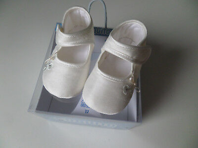 Cuquito Baby Girls Christening Shoes  Size 17 - Uk 1   Bnwot