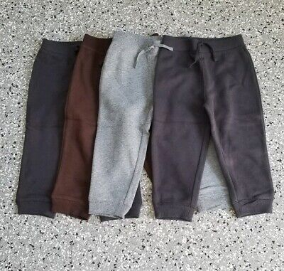 Lot of 3 Jumping Beans Baby Boys Navy Gray Sweatpants Size 24 Months