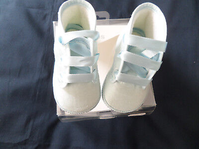 Baby Boys Blue Christening Boots Size Eu18 - Uk 2  3-6 Mths Bnib