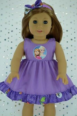 """Doll Clothes For 18"""" American Girl~Our Generation~JourneyLILAC DRESS~HEADBAND"""