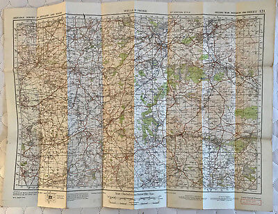 Map of WELLS & FROME 2nd WAR REVISION 1940 Ordnance Survey SHEET 121