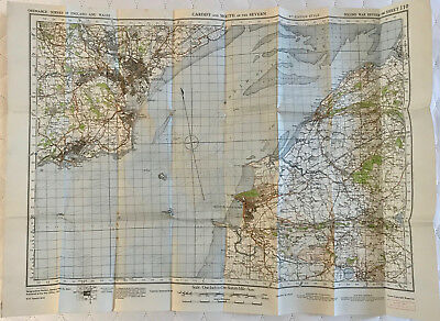 Map CARDITH & MOUTH of the SEVERN 2nd WAR REVISION 1940 Ordnance Survey SHEET 11