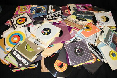 Huge Lot of 350 Vintage 70s & 80s Music 45 rpm Vinyl Records Country, Soft Rock