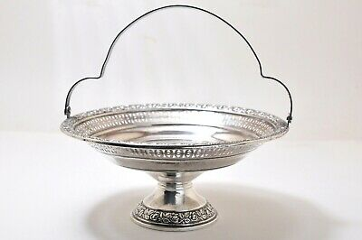 Sterling Silver OLD WALLINGFORD Compote/Candy Dish or Basket w/Handle- Weighted