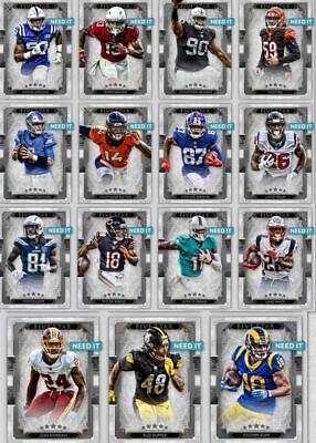 2019 FIVE STAR SILVER BASE SET OF 15 CARDS  Topps Huddle Digital Card