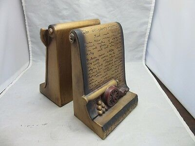 Lego chalkware bookends. Gettysburg Address. Declaration of Independence