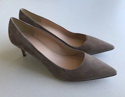 3941146c55 JCrew$198 Dulci 12 Suede Kitten Heels Kraft Brown Womens A9758 Shoes Pump  Italy