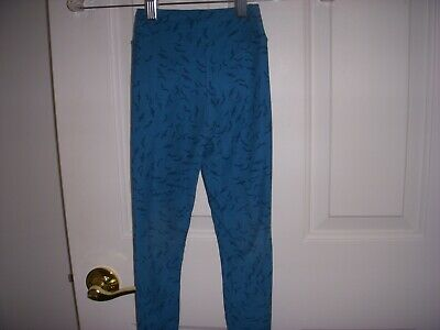 Lularoe Kids S/M Leggings~ Teal bats print