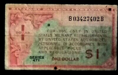 MPC $1 Series 471 * One Dollar Series 481 Military Payment Certificate *