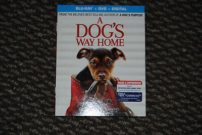 A Dog's Way Home (Blu Ray + DVD + Digital HD, 2019) w/ SLIP COVER **FREE SHIP***