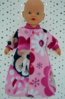 """Play n Wear Dolls Clothes For 13"""" Little Baby Born/Mommy PRINTED SLEEPING BAG"""