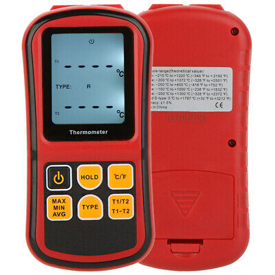 GM1312 Digital Thermometer Meter Tester for K/J/T/E/R/S/N Thermocouple New O1W1