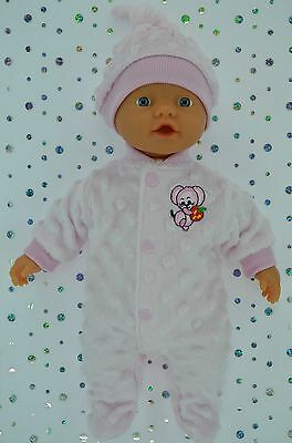 """Play n Wear Doll Clothes For 13"""" Little Baby Born PINK STRETCH AND GROW~HAT"""