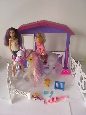Barbie Little Sister s horse riding stables and accessories bundle