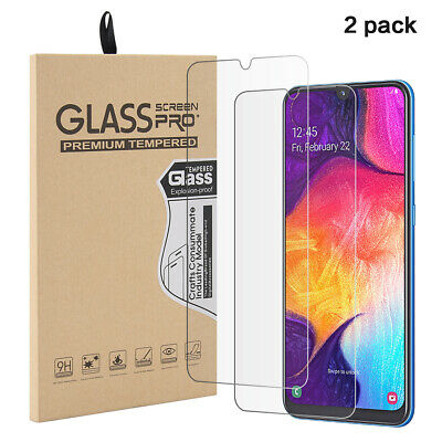 2 Pack For Samsung Galaxy A50 Tempered Glass Screen Protector Anti-Scratch Cover