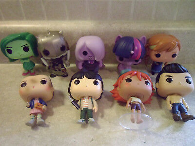 Lot of 9 Funko Pop Vinyl Figures, OOB Out of Box