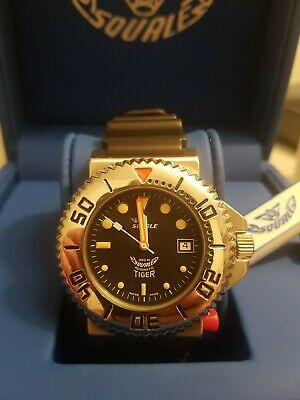 WATCH SQUALE TIGER 064 VINTAGE 300mt - blue dial, camouflage strap