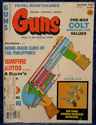 Magazine *GUNS* Dec 1982 CHARTER ARMS Tracker .357 REVOLVER, BROWNING Citori O/U