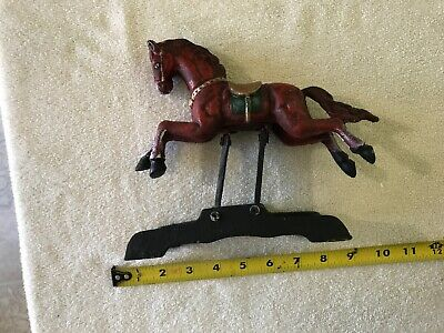 VINTAGE CAST IRON Reproduction Bank Kicking Horse  - $19 00