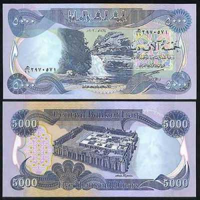 Iraqi Dinar Banknotes, 50,000 Circulated 10 x 5,000 IQD!! 50000 Fast Ship!