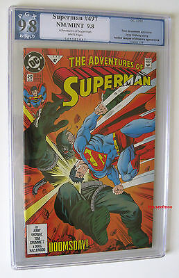Adventures Of SUPERMAN #497 DOOMSDAY Early Appearance PGX 9.8 not CGC 1st Print
