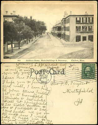 Soldiers Home  Main Buildings Chelsea Massachusetts MA mailed 1917