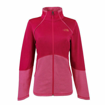 c6469c10ee10 The North Face Women s 100 Cinder Full Zip Jacket Rose Red Size Medium
