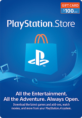 Playstation Network $100 USD Gift Card for PSN United States (Physical Delivery)