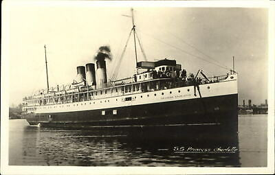 SS Princess Charlotte ~ Gowen Sutton Canada RPPC real photo postcard