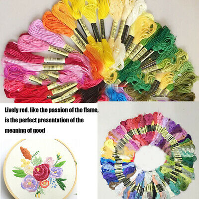 Lots Colors 8m 6-cord Cross Stitch Cotton Embroidery Thread Floss Sewing Crafts